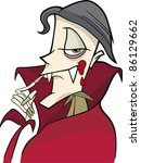 cartoon illustration of funny... | Shutterstock .eps vector #86129662