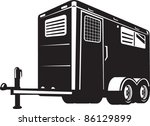 illustration of a horse trailer ...