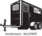 illustration of a horse trailer ...