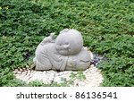 Granite Statue Of A Cute Baby...