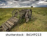 Old Prairie Wheel Cart...
