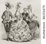 Court Ball In 1785  Costumes Of ...