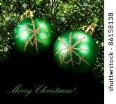 green christmas balls | Shutterstock . vector #86158138