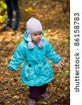 happy little girl   Shutterstock . vector #86158783