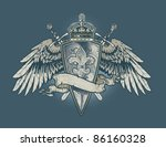 engraved fleur shield