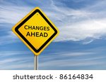 changes ahead road sign against ... | Shutterstock . vector #86164834