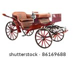 Vintage Carriage Isolated On...