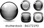 web buttons net style glossy... | Shutterstock .eps vector #86172193