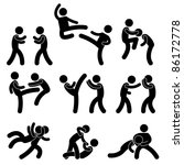 fight fighter muay thai boxing... | Shutterstock . vector #86172778