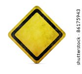 grunge empty road sign with... | Shutterstock . vector #86175943
