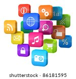 software concept  cloud of... | Shutterstock . vector #86181595