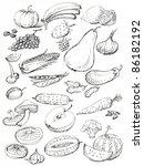 fruit and vegetables | Shutterstock . vector #86182192