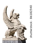 Winged Lion In Madrid