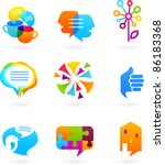 collection of social media and... | Shutterstock .eps vector #86183368