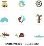collection of spa and zen icons | Shutterstock .eps vector #86183380