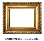 one isolated frame on the white ... | Shutterstock . vector #86192683