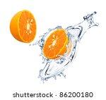 Orange Slices With Water Splash
