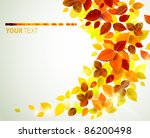 autumn yellow leaves background | Shutterstock .eps vector #86200498