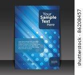 flyer or cover design | Shutterstock .eps vector #86208457