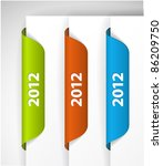 vector 2012 labels   stickers... | Shutterstock .eps vector #86209750