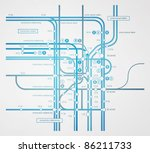 abstract infographics subway... | Shutterstock .eps vector #86211733