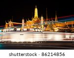 night view of grand palace in...   Shutterstock . vector #86214856