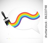 speech bubble with rainbow... | Shutterstock .eps vector #86223748