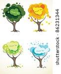 Abstract Four Season Trees ...