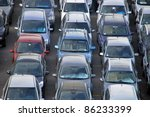 many cars parked in a parking....   Shutterstock . vector #86233399