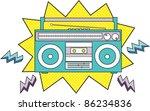 radio cassette | Shutterstock .eps vector #86234836