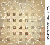 chaotic ribbon over mosaic... | Shutterstock .eps vector #86238292