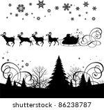 santa's sleigh.  all elements...   Shutterstock .eps vector #86238787
