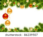 christmas background with... | Shutterstock .eps vector #86239507