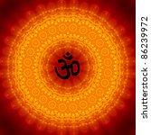 Om Sign On Mandala Background
