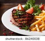 Rustic Grilled Beefsteak With...