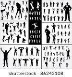 big collection poses people. | Shutterstock .eps vector #86242108