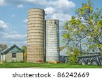 Two Grain Silo Buildings On Th...