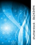 blue christmas background.... | Shutterstock .eps vector #86243494