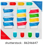 big collection of colorful... | Shutterstock .eps vector #86246647