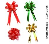 Bows collection isolated - stock photo