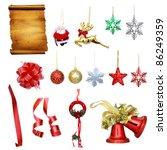 Christmas decor collection - stock photo