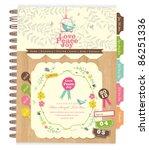 cute scrapbook elements  10  | Shutterstock .eps vector #86251336