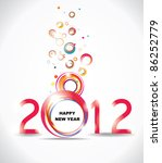 new year 2012 in white... | Shutterstock .eps vector #86252779