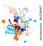 vector set of colored blots on... | Shutterstock .eps vector #86258947