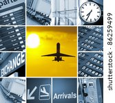 airport theme mix composed of... | Shutterstock . vector #86259499
