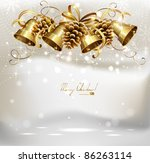 festive  bells and cones  on...   Shutterstock .eps vector #86263114
