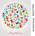 Christmas Background With Set...