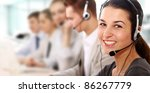 Businesswoman With Headset...