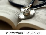 Stethoscope On Open Book...
