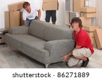 men moving into new house | Shutterstock . vector #86271889